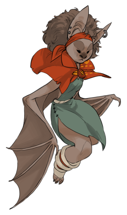 runningwithpaper: quick sketch thing of my grumpy little bat girl Keeka i havent drawn her in forever 8U