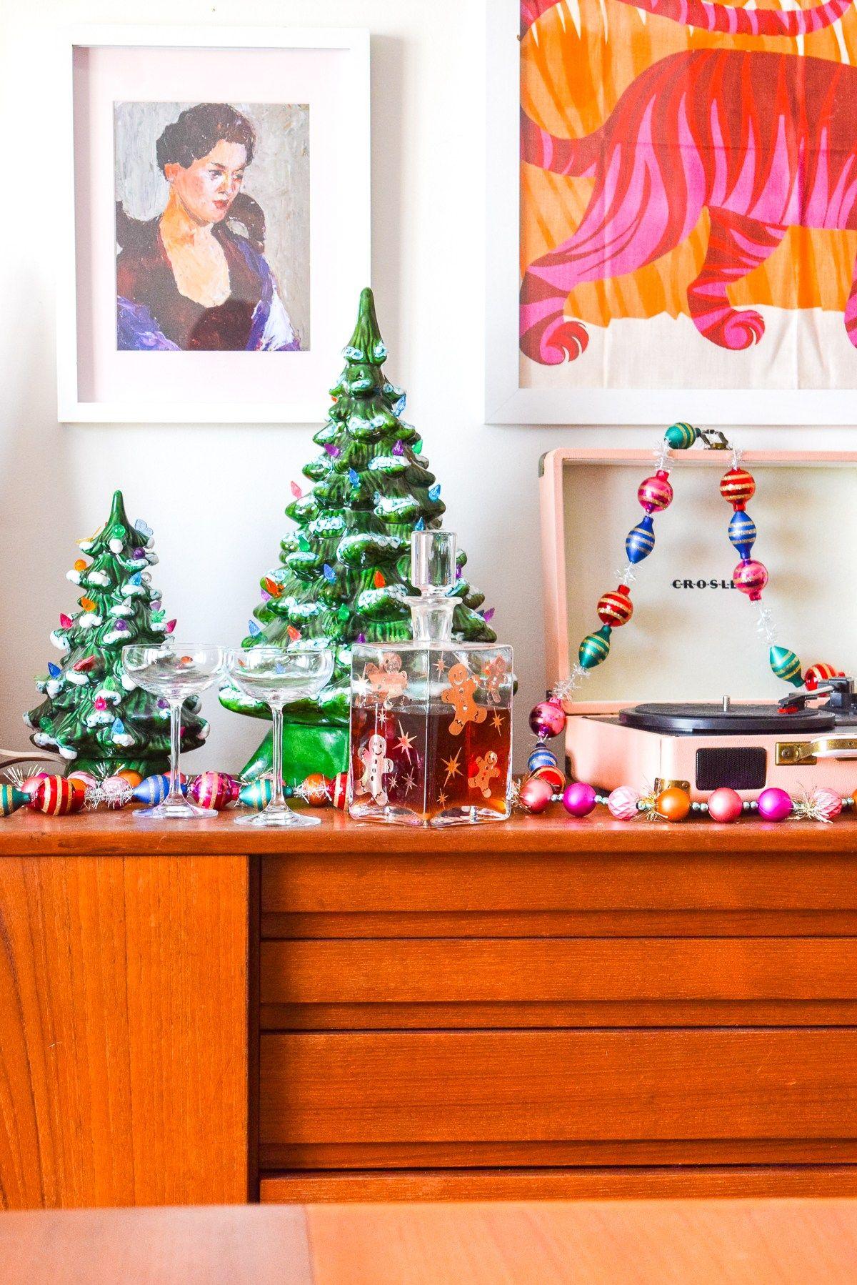 Ceramic Christmas Tree Sideboard Display (With images)   Ceramic christmas trees, Retro ...