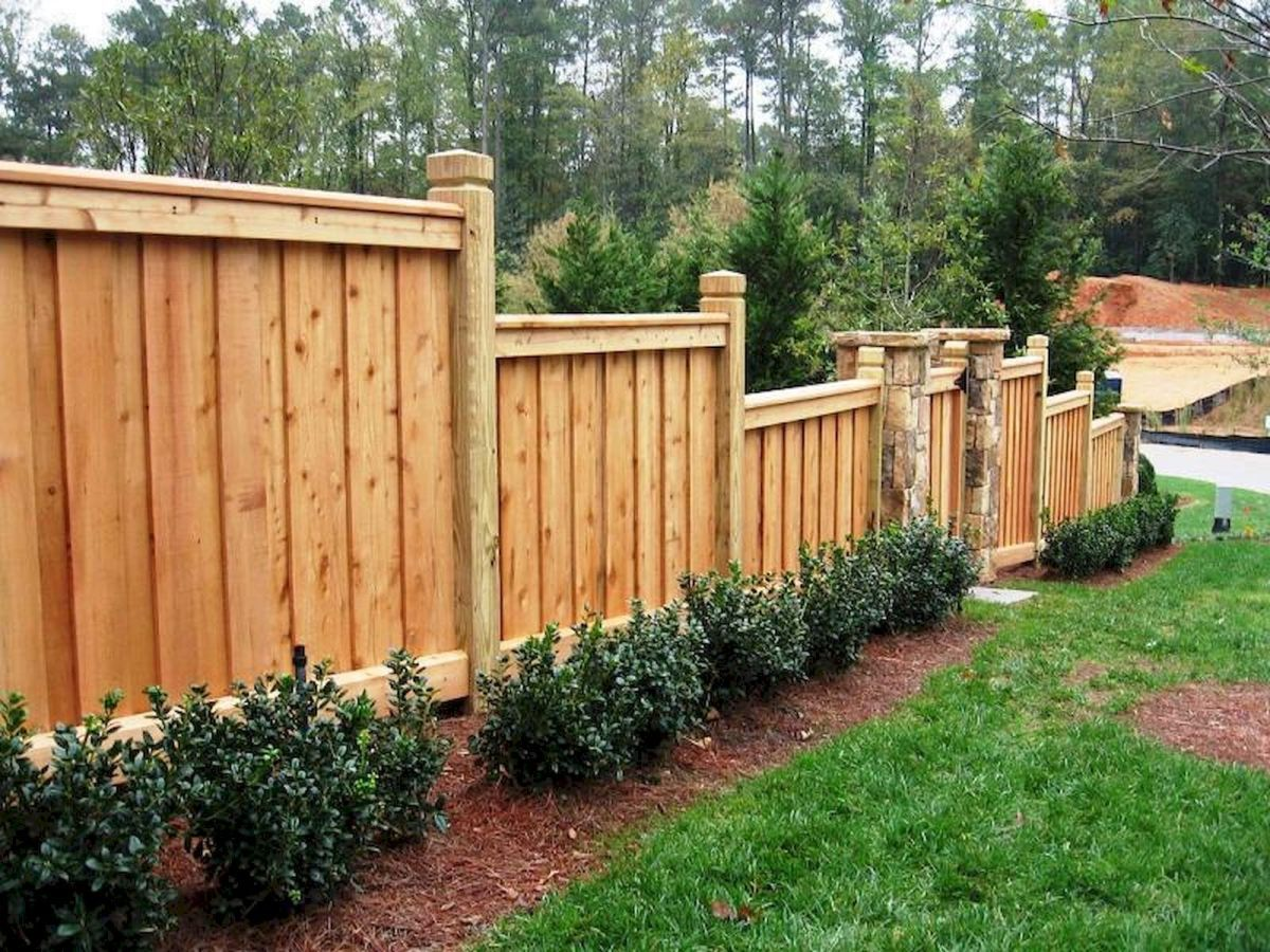 50 Stunning Backyard Privacy Fence Ideas Decorations And Remodel 34 Backyard Fences Fence Design Wood Fence Design