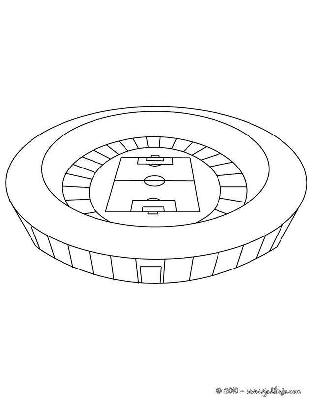 Imprimir La Pagina Estadio De Futbol Estadio De Futbol Estadios Dibujos De Futbol