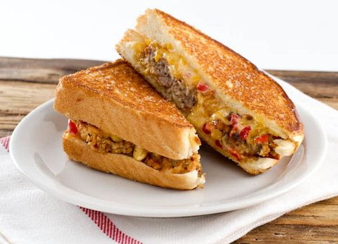 Grilled Chicken Fried Steak And Pimento Cheese Sandwiches