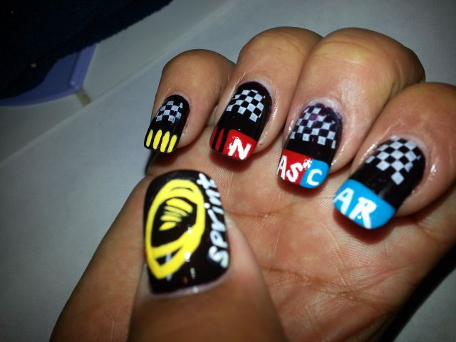 Nascar Nail Art | Nascar Nail Art | Pinterest | Nascar nails and NASCAR - Funky Nascar Nail Art Pictures - Nail Art Design Ideas