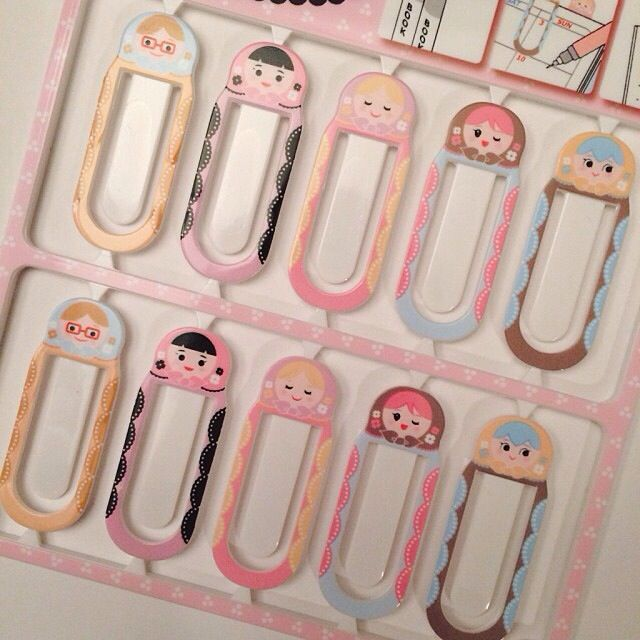Russian doll page holders for filofax and planners
