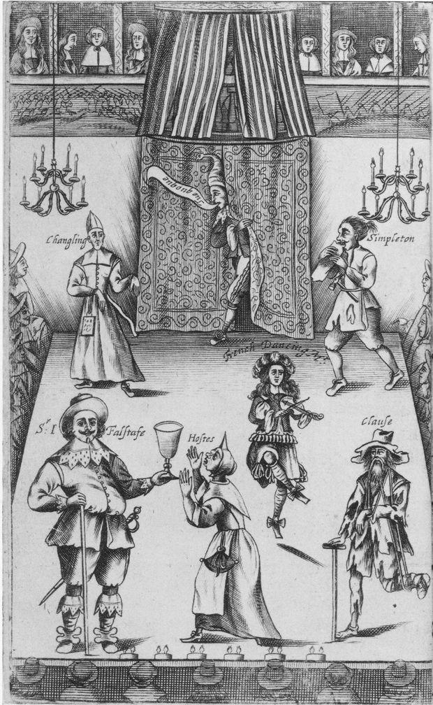 characters in medieval drama description restoration theatre