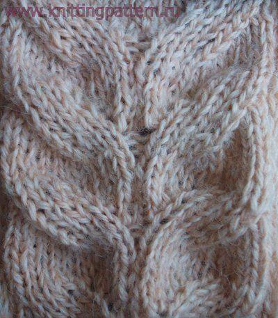Рисунок вязания косичка