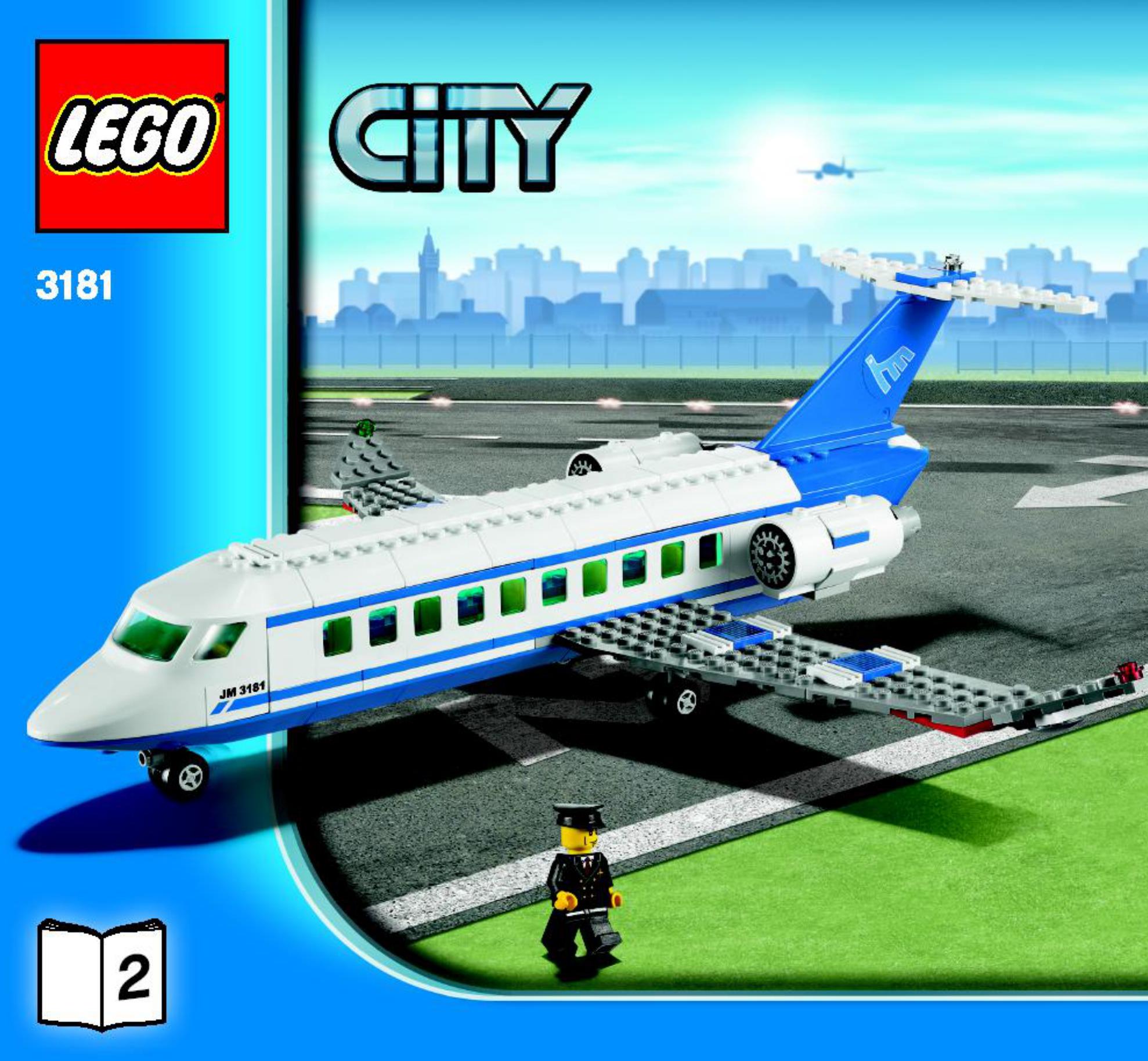 Lego City Airport Passenger Plane 3181 Handleiding Kids Lego