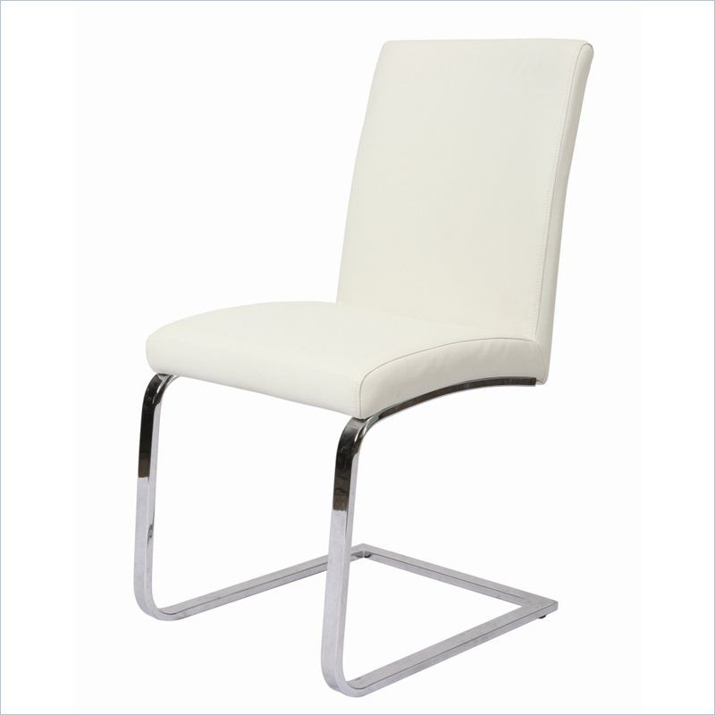 Monaco Side Chair Upholstered In Pu Ivory Qlmc11079978 Pastel Furniture Furniture Side Chairs