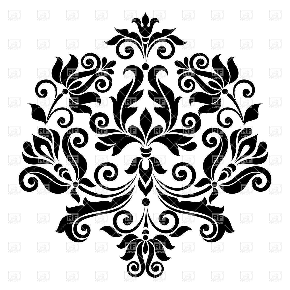 Black Vintage Floral Design Element Vector Image Vector Illustration Of Design Elements
