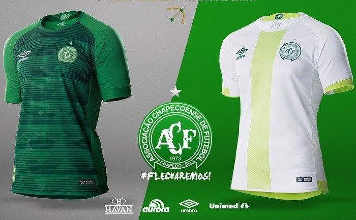2774784827c Chapecoense 2017/18 Umbro Home and Away Kits | Soccer Jerseys ...