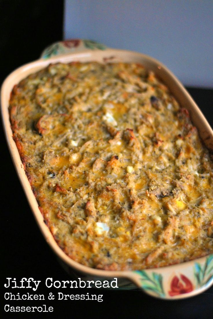 Jiffy Cornbread Chicken Amp Dressing Casserole Aunt Bee S Recipes Chicken Dressing Cornbread
