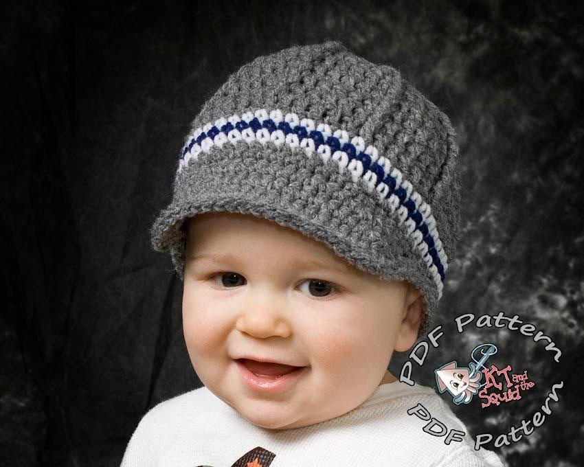 Crochet Hat Pattern Newsboy Hat Pattern Crochet Hat Pattern