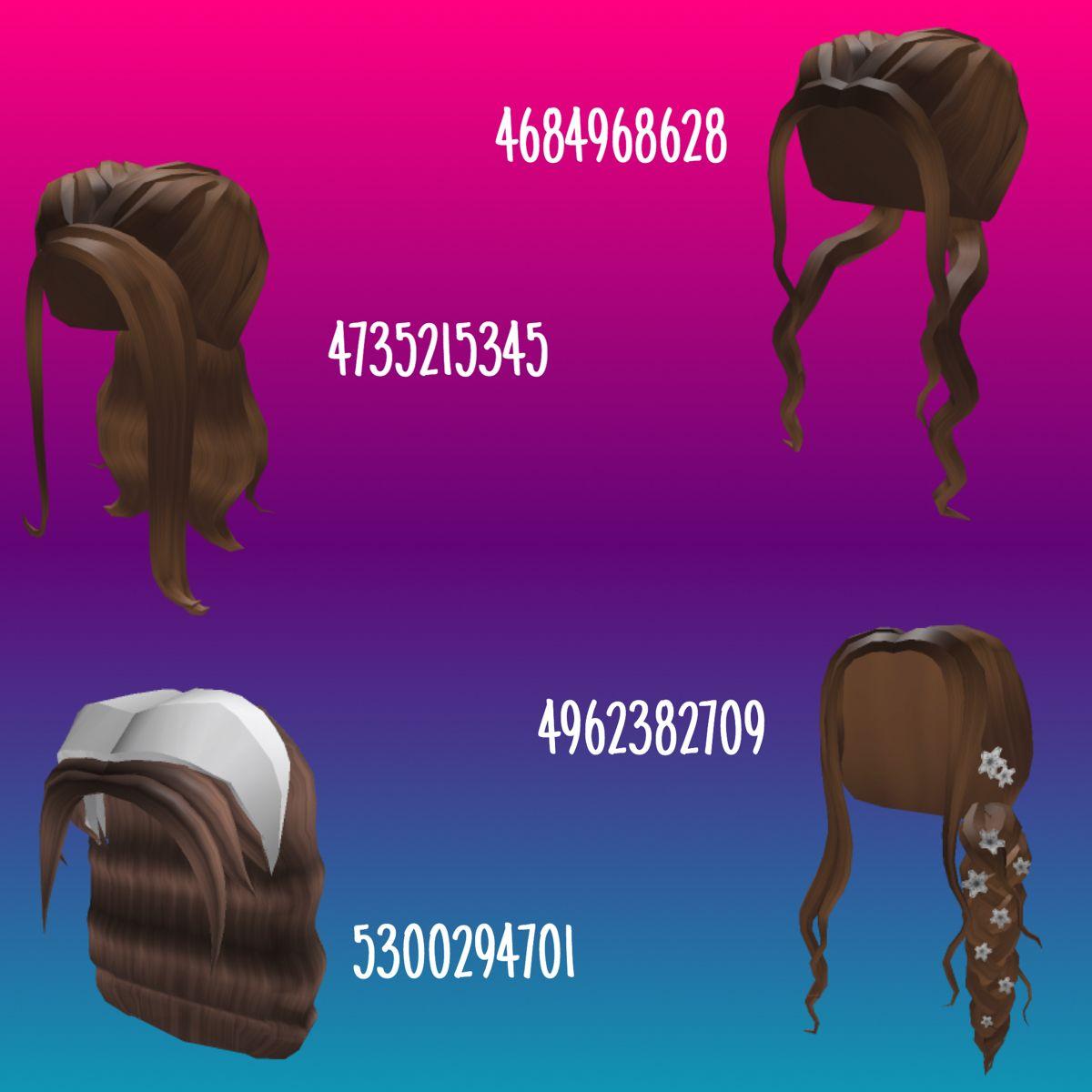 Hair Codes Coding Roblox codes Brown hair roblox
