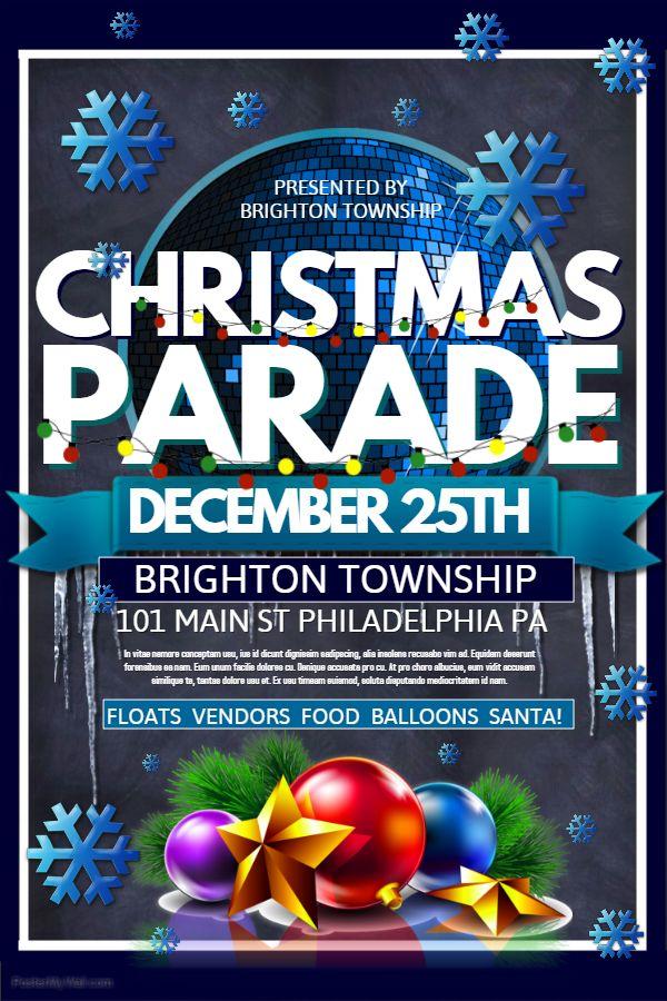 christmas parade poster idea - Christmas Poster Ideas