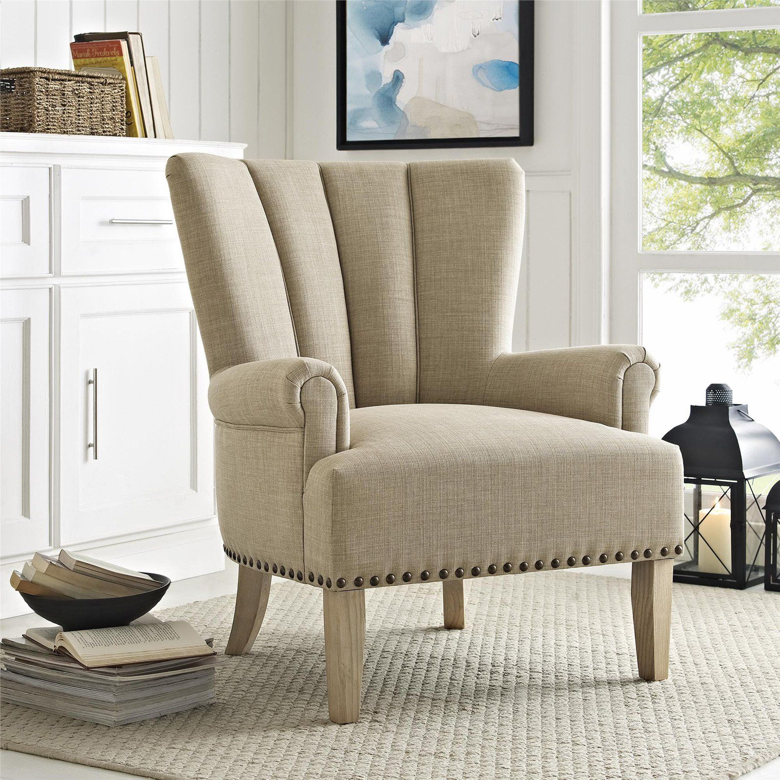3ebff2744bf889d462a29fef2238dc40 - Better Homes And Gardens Rolled Arm Accent Chair Gray