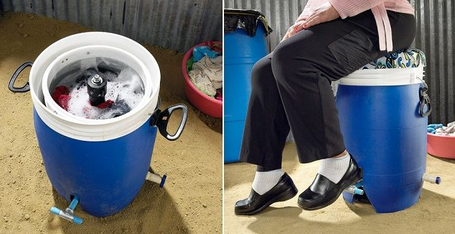 Pedal-Powered Washer Needs No Electricity and Costs Only $40 -- Available soon ! Great for off-grid life or emergencies, or for full households that need a lot of laundry done in a pinch.