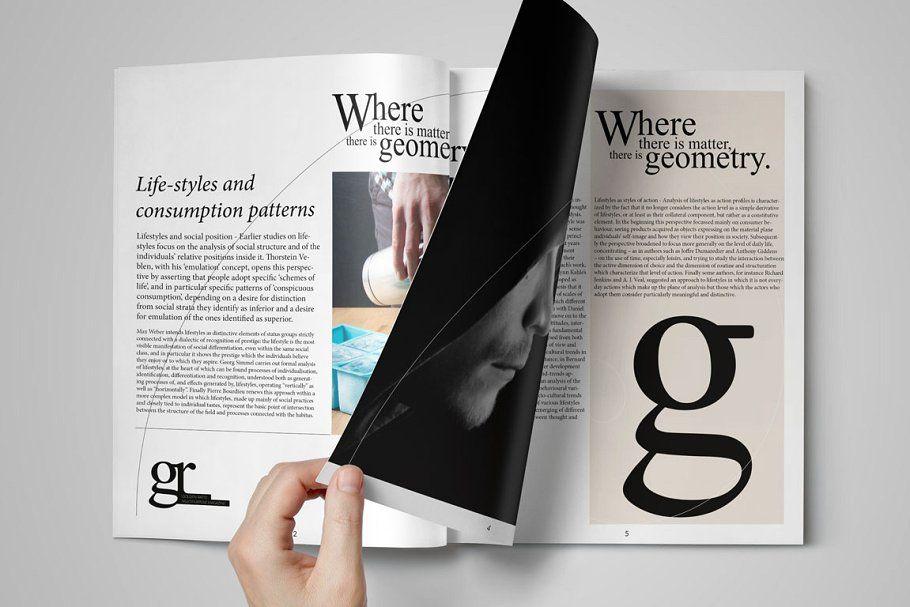 Golden Ratio Magazine Template Magazine Template Templates Golden Ratio