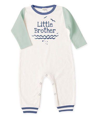 4d1e4649125 Sea Green   Ivory  Little Brother  Romper - Infant  zulily  zulilyfinds