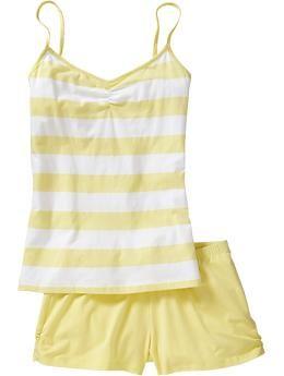 5c91adc5270b yay for yellow Women s Tank   Short PJ Sets