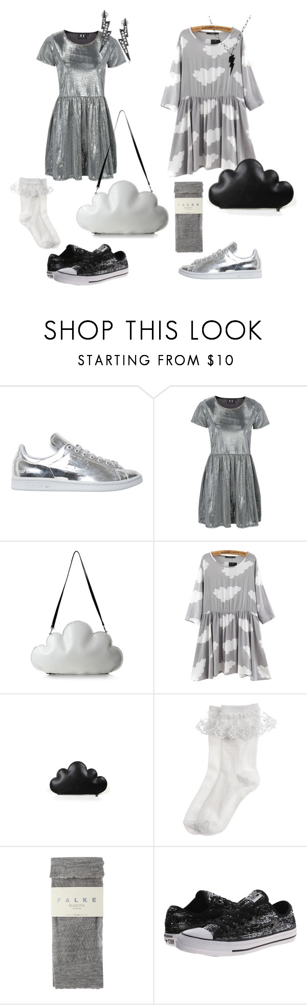 """""""Lightning twins"""" by rosyapple ❤ liked on Polyvore featuring adidas, Topshop, Chicnova Fashion, Monsoon, Falke, Converse, ABS by Allen Schwartz, women's clothing, women's fashion and women"""