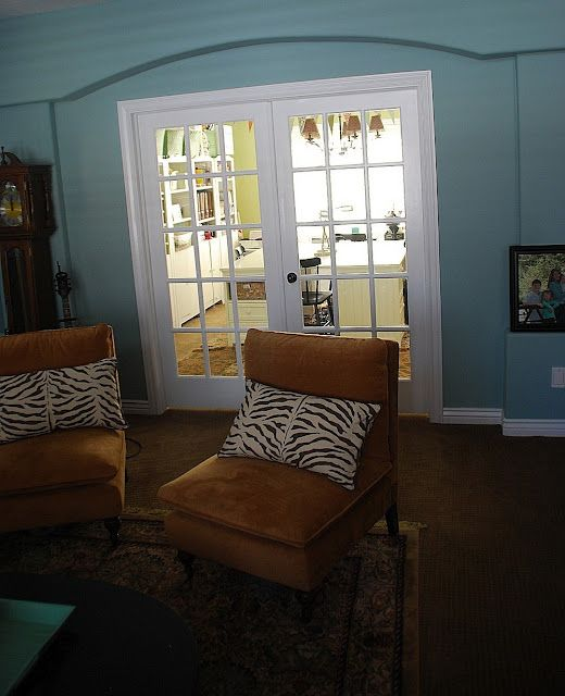 My Dining Room Turned Craft Office And Show Off YOUR Space They Framed In The Formal Arch Put French Doors