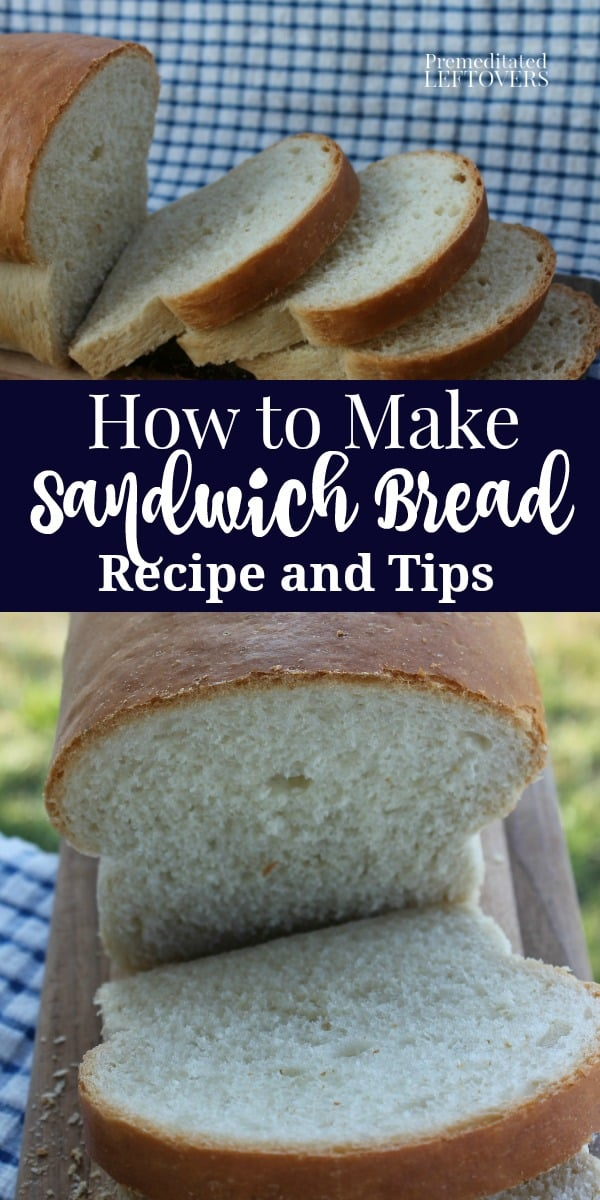 Basic white bread recipe with yeast that makes two loaves ...