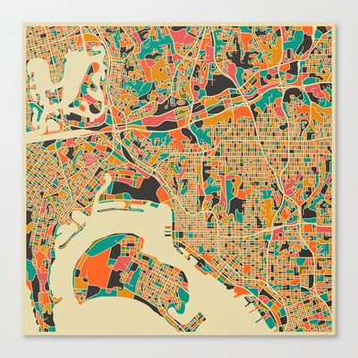 San+Diego+Stretched+Canvas+by+Jazzberry+Blue+-+$85.00
