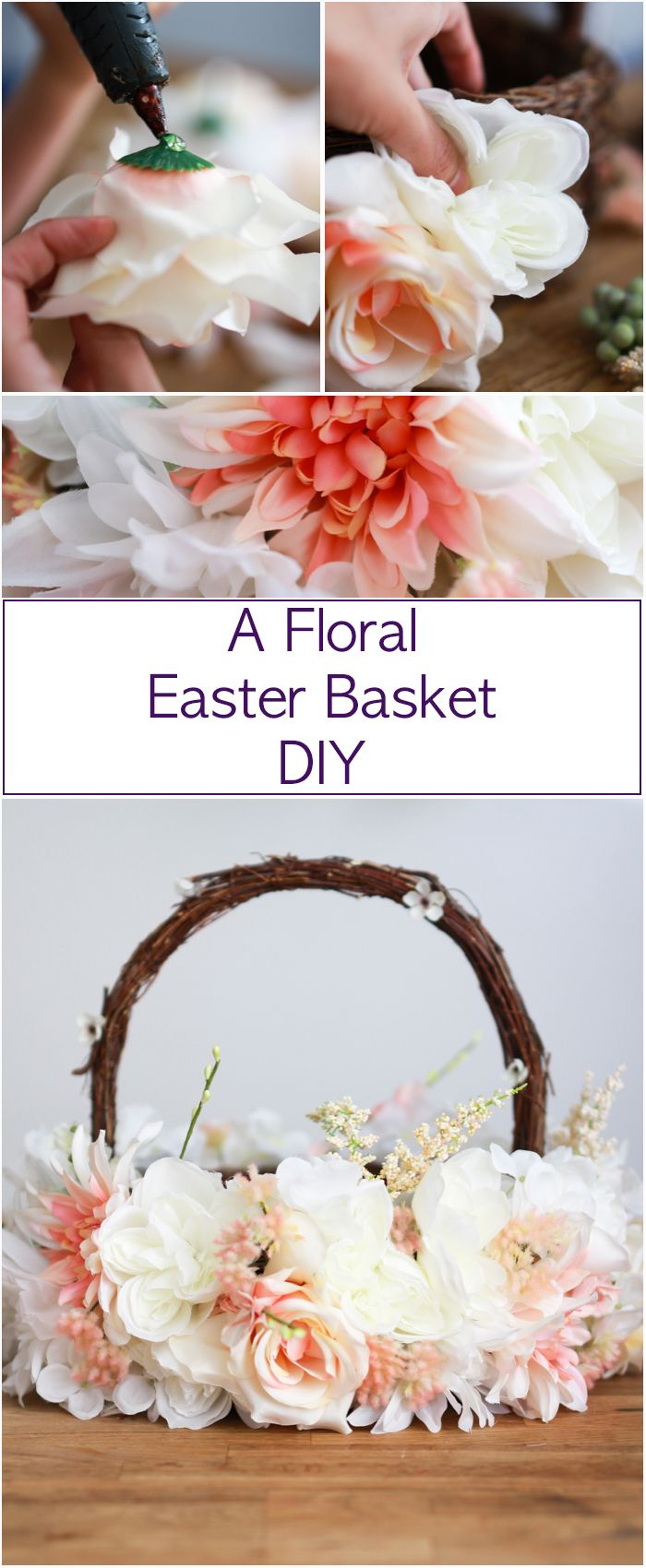 A floral Easter Basket DIY A beautiful
