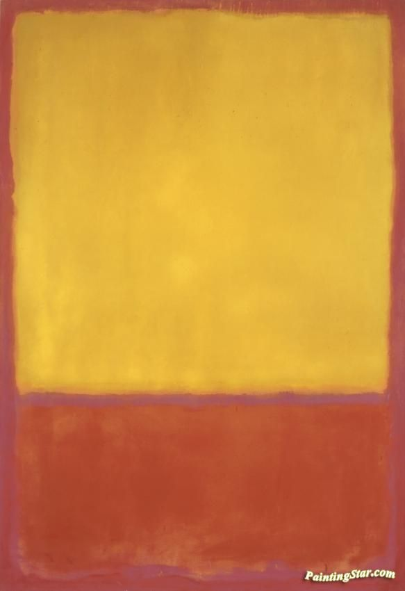 Ochre And Red On Red, 1954 Artwork by Mark Rothko Hand-painted and Art Prints on canvas for sale,you can custom the size and frame