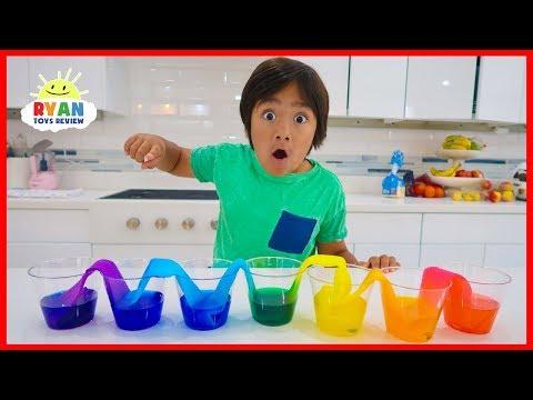 Walking Water Rainbow Ryan S World Kindergarten Videos Science Experiments Kids Water Experiments For Kids Water Science Experiments