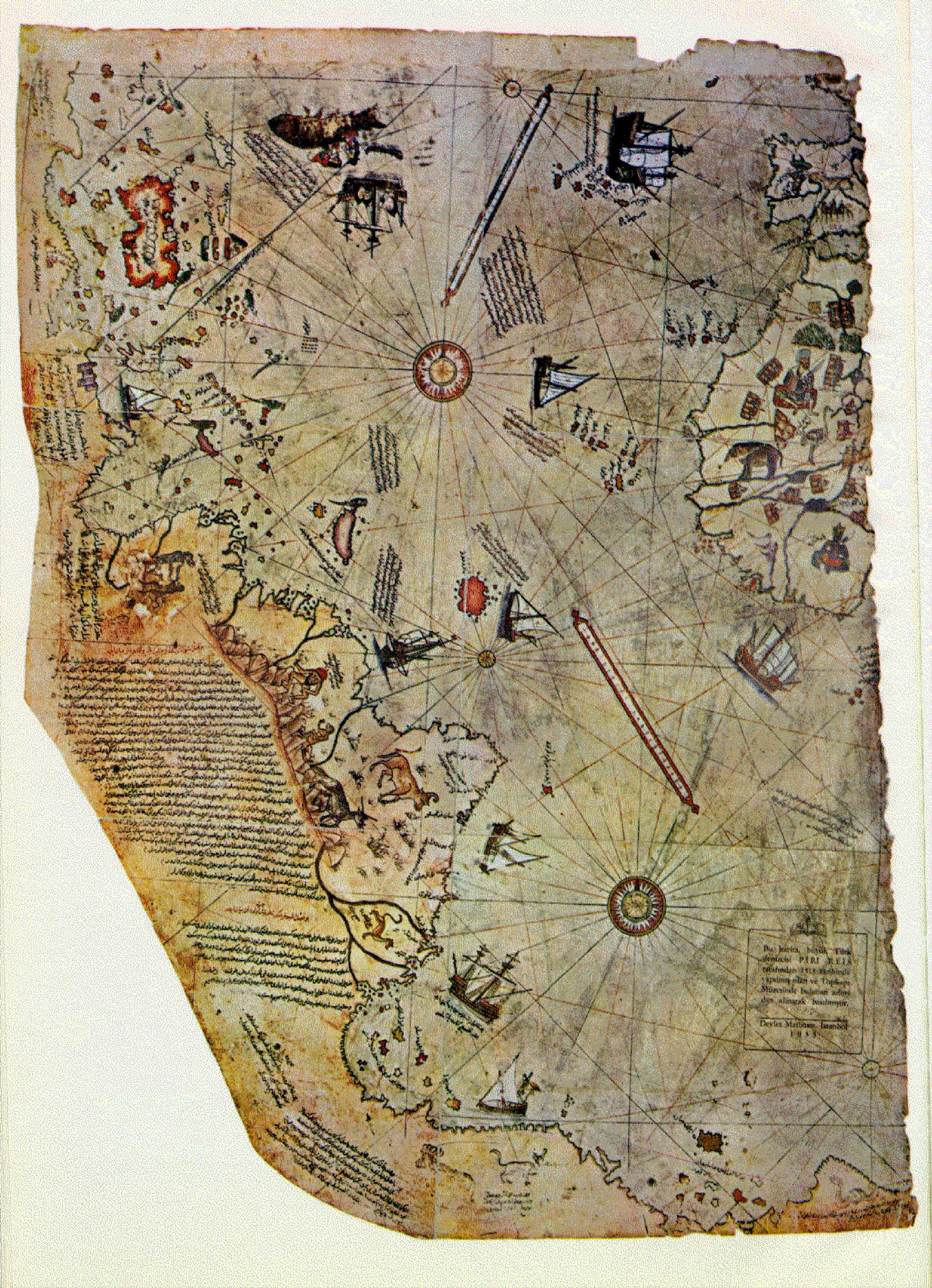 Pin by GEOINT.wiki on GEOINT: Antique Maps | Piri reis map, Map ...