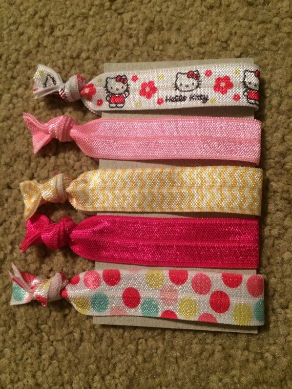 Hello Kitty Elastic Hair Ties by millergoodsshop on Etsy