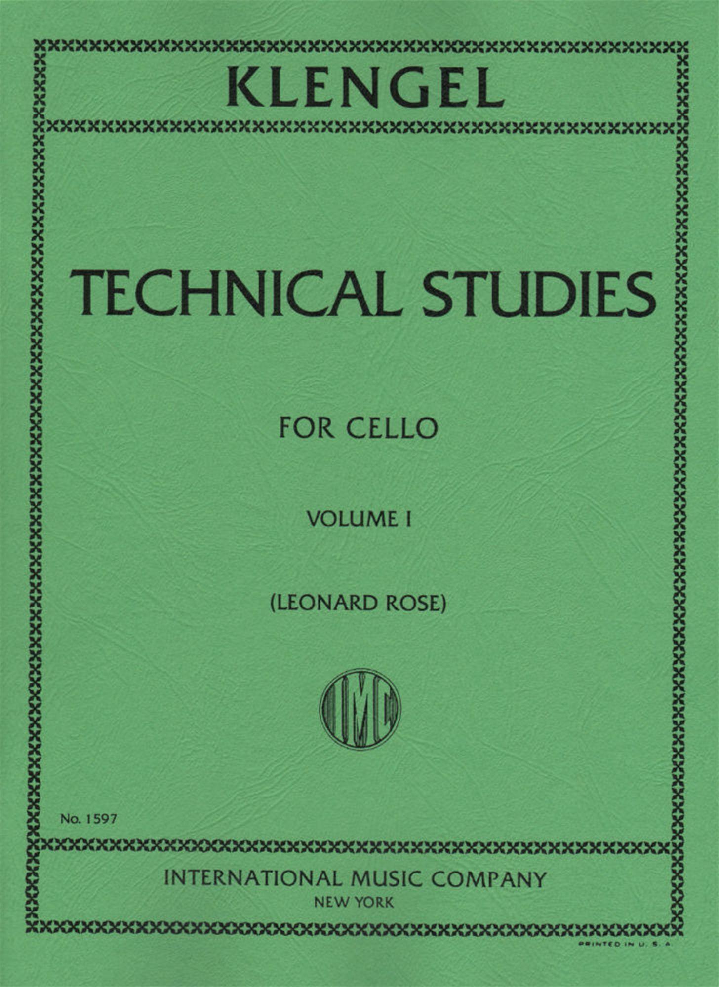 Klengel, Julius - Technical Studies, Volume 1 - Cello solo