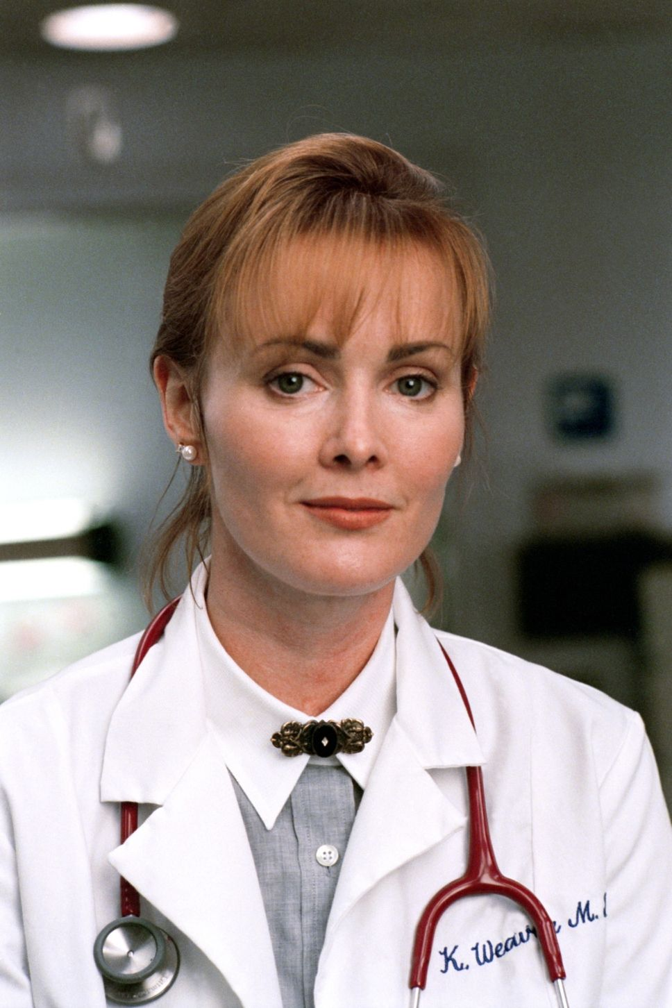 Sexy redhead doctor on er