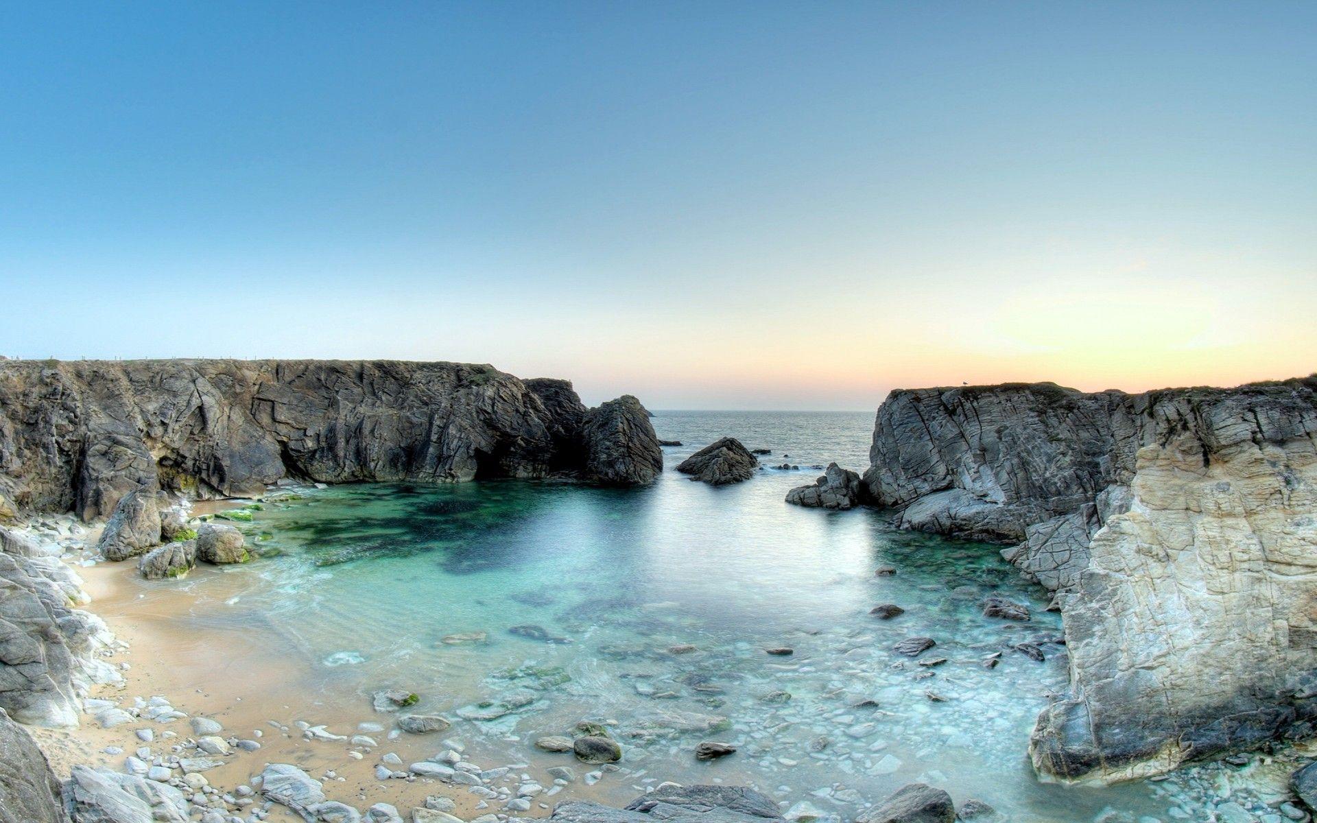 Imagenes paisajes verano recodo del mar