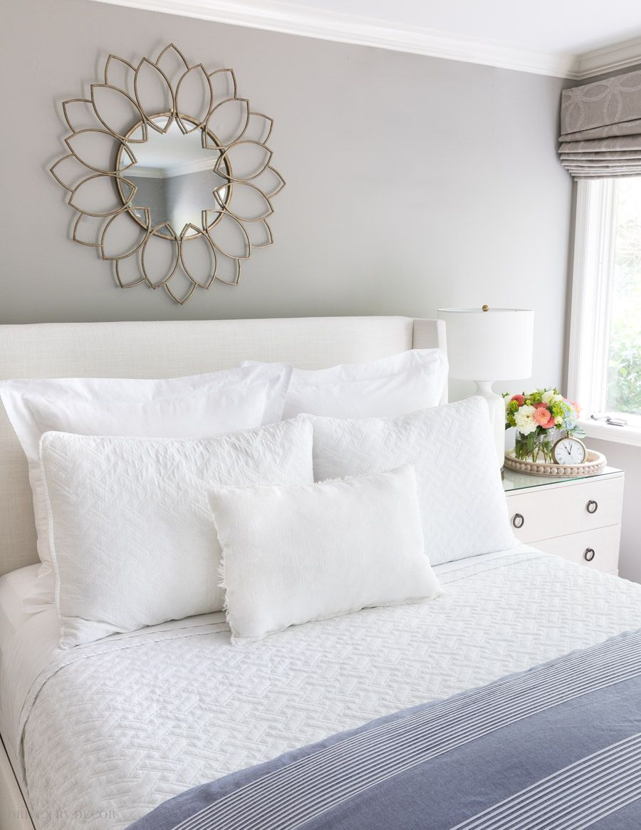 How to Arrange Pillows on a Queen Bed: Five Simple Formulas That Work! | Driven by Decor