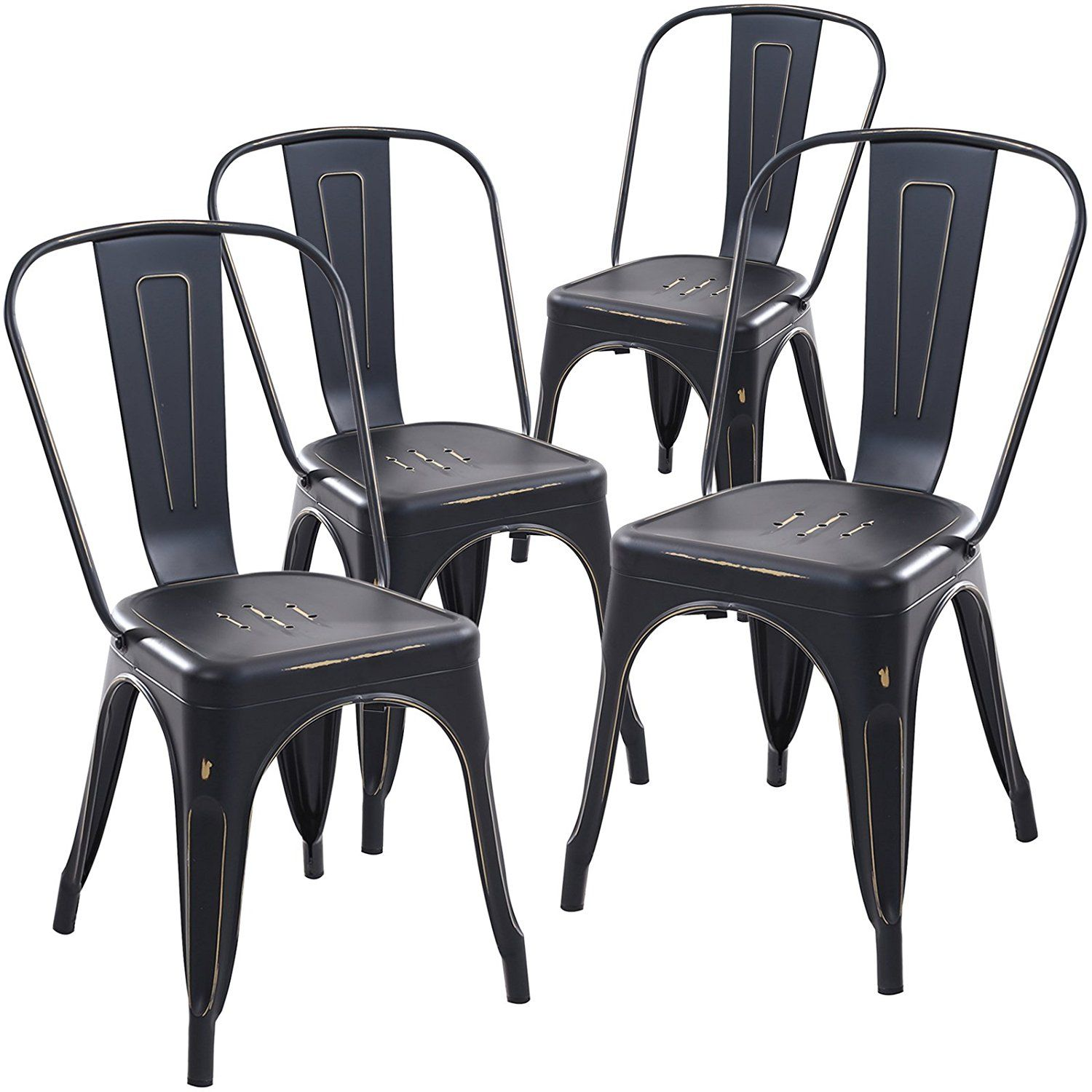 Amazon.com   Poly And Bark Tolix Style Bistro A Dining Side Chair (Set