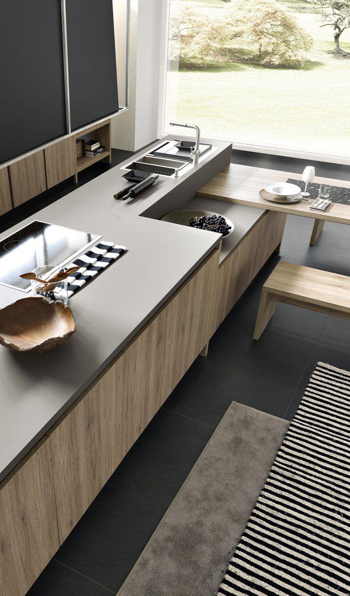 un assaggio del piano cucina colore grigio in \