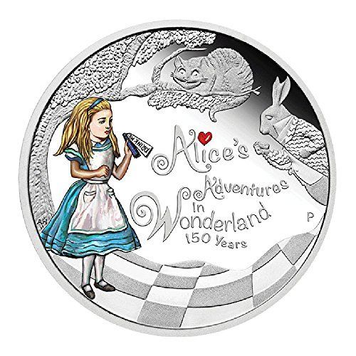 2015 Tuvalu Alice In Wonderland 1 oz silver proof coin 150th Anniversary $1 Brilliant Uncirculated @ niftywarehouse.com #NiftyWarehouse #AliceInWonderland #Alice #Wonderland #Gifts