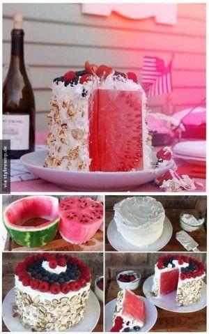 Klasse Torte Fur Den Valentinstag Wassermelone In Der Form Eines