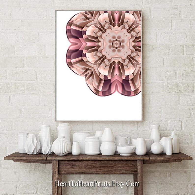 Rustic Floral Wall Art Set Of 2 Prints Pink Blush Brown Rustic Etsy Rustic Floral Wall Art Pink Grey Wall Art Floral Prints Art