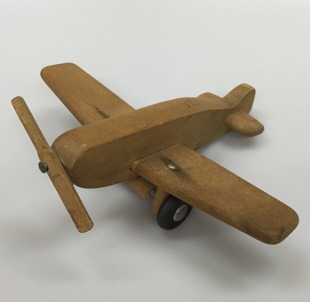 Vintage Creative Playthings Wood Airplane Plane Toy Made in USA ...