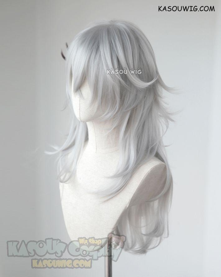 Kasou Wig Fate Apocrypha Saber Of Black Siegfried Medium Layered Light Gray Cosplay Wig With Black Streaks Ka003 Wigs Cosplay Wigs Cosplay Hair