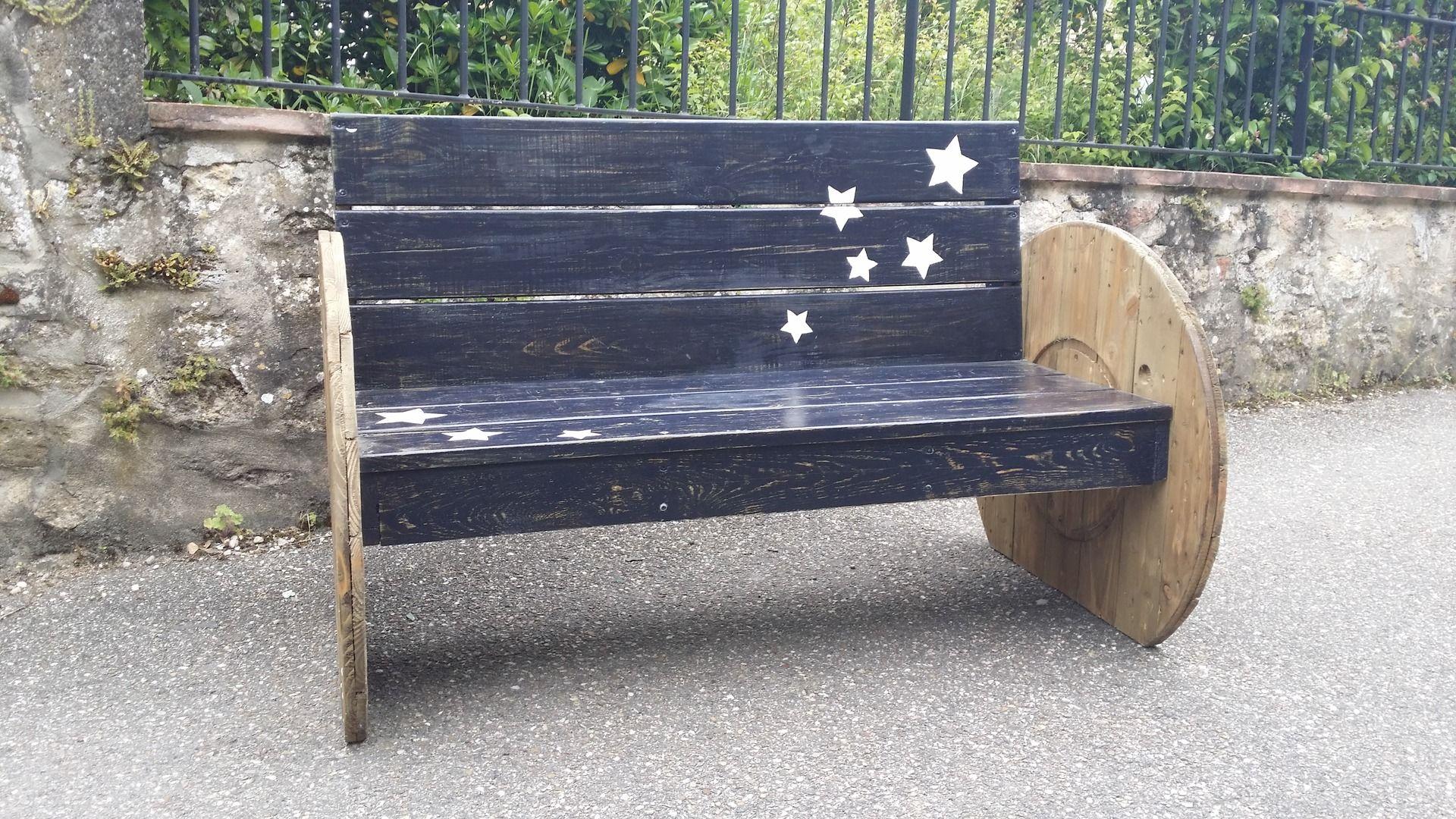 Canape de jardin touret recup meubles et rangements par lafabrique33 deco palettes bois for Canape palette recup