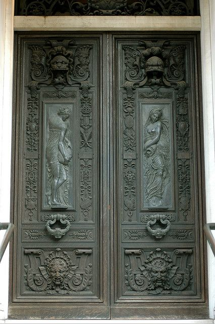 Ornate Doors  I like to walk around Mount Vernon Place in Baltimore, there are so many cool things to photograph.