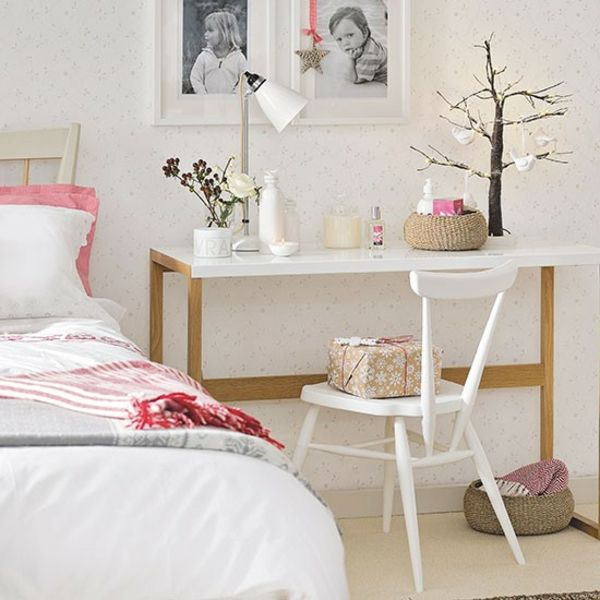 Schlafzimmer Ideen gestalten einrichten beistelltisch niedlich - schlafzimmer ideen pink
