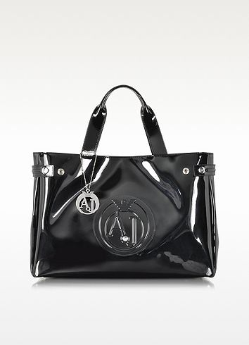 Armani Jeans Large Faux Patent Leather Tote  101.50  145.00 Actual ... 31519ede1b34f
