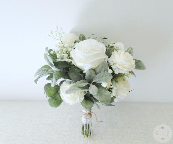 Bride or bridesmaid bouquet roses - bridal bouquet - boho wedding - artificial bouquet - silk flower bouquet - boho bouquet - wedding flower