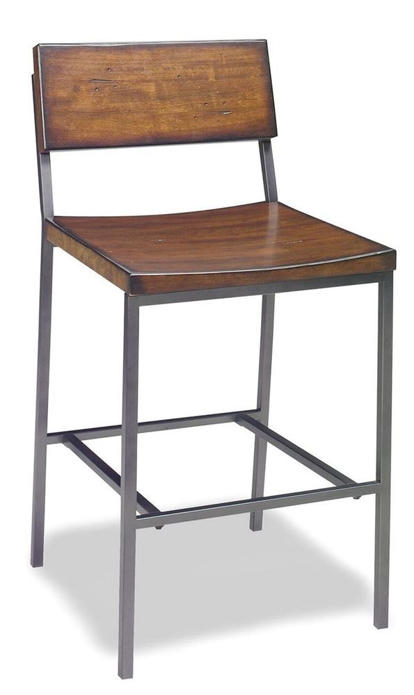 Square Wooden Seat Bar Counter Stool High Chair Kitchen
