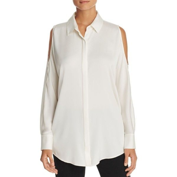 COLD SHOULDER BUTTON UP DKNY Choice Cheap Online Outlet Huge Surprise Cheap Eastbay Clearance Online Fake rVWpe