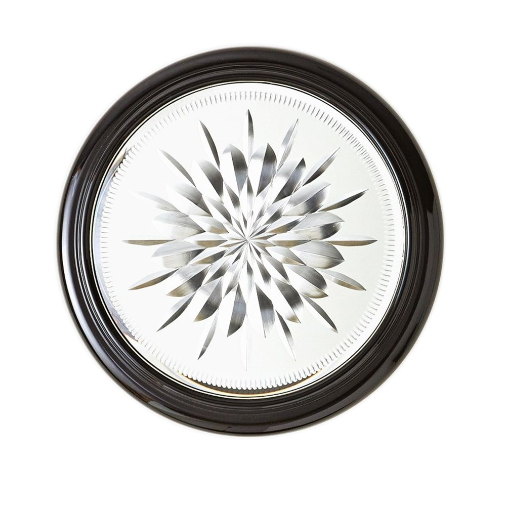 Star Cut Black Cerused Oak 15 Round Small Wall Mirror Style 20j19 Products Small Wall Mirrors Mirror Wall Mounted Jewelry Armoire